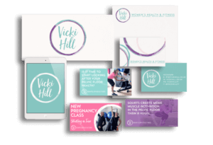 Examples of design work for Vicki Hill.