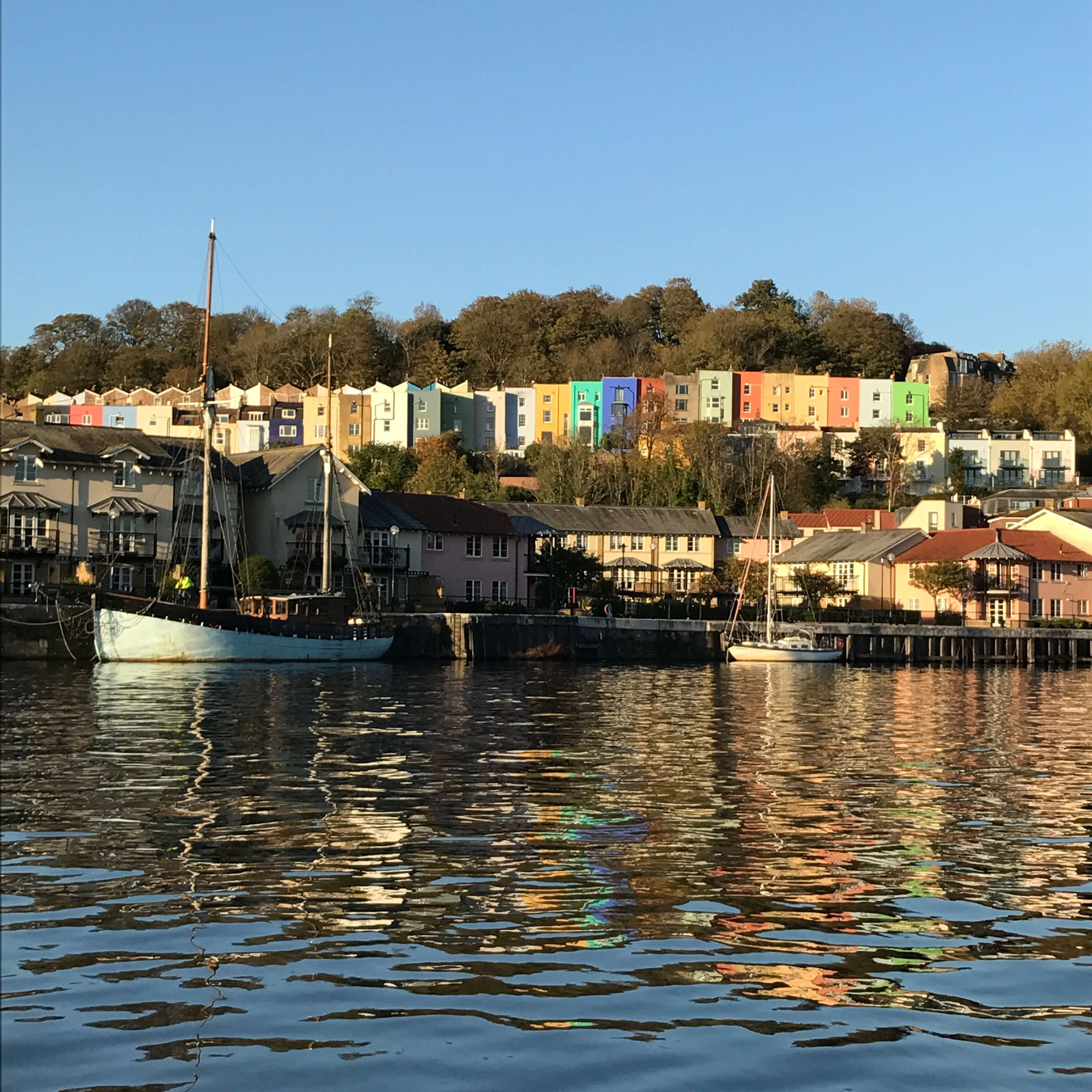Bristol's coloured houses by the Harbourside.