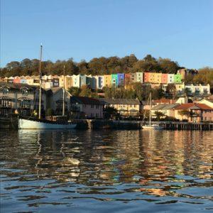 Bristol creative hub, Bristol coloured houses.