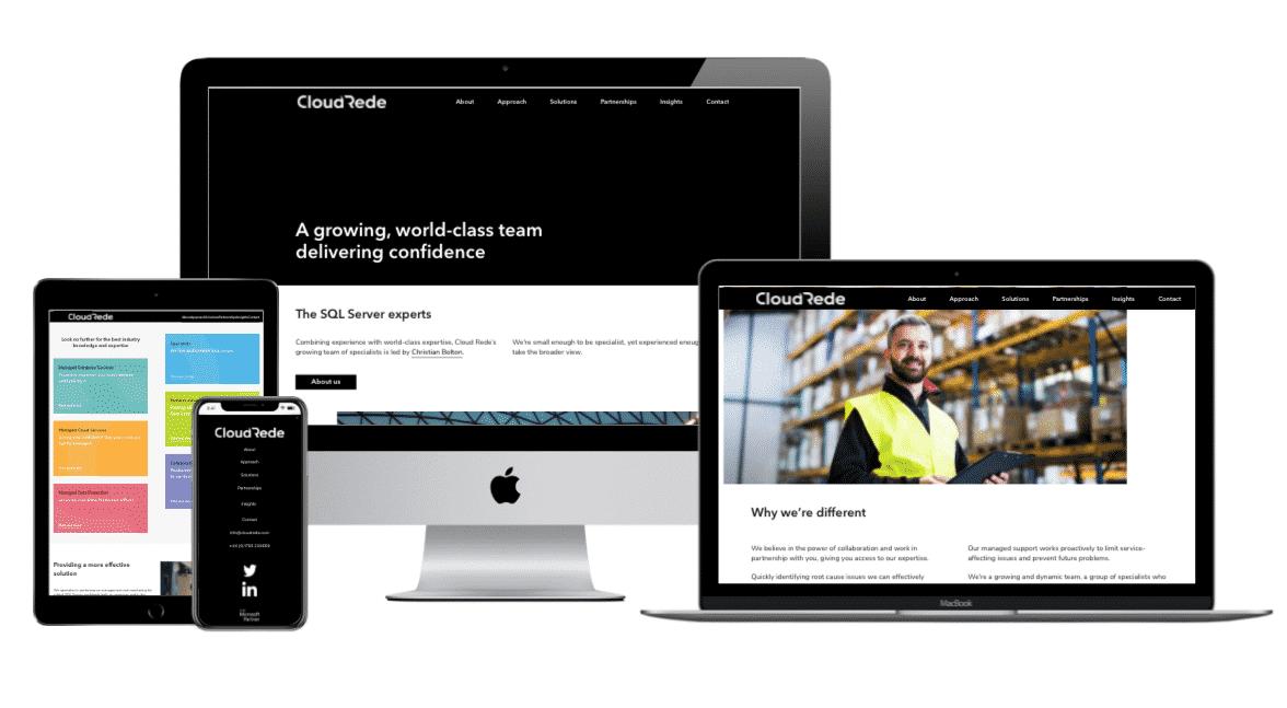 Website design and digital design project for Cloud Rede