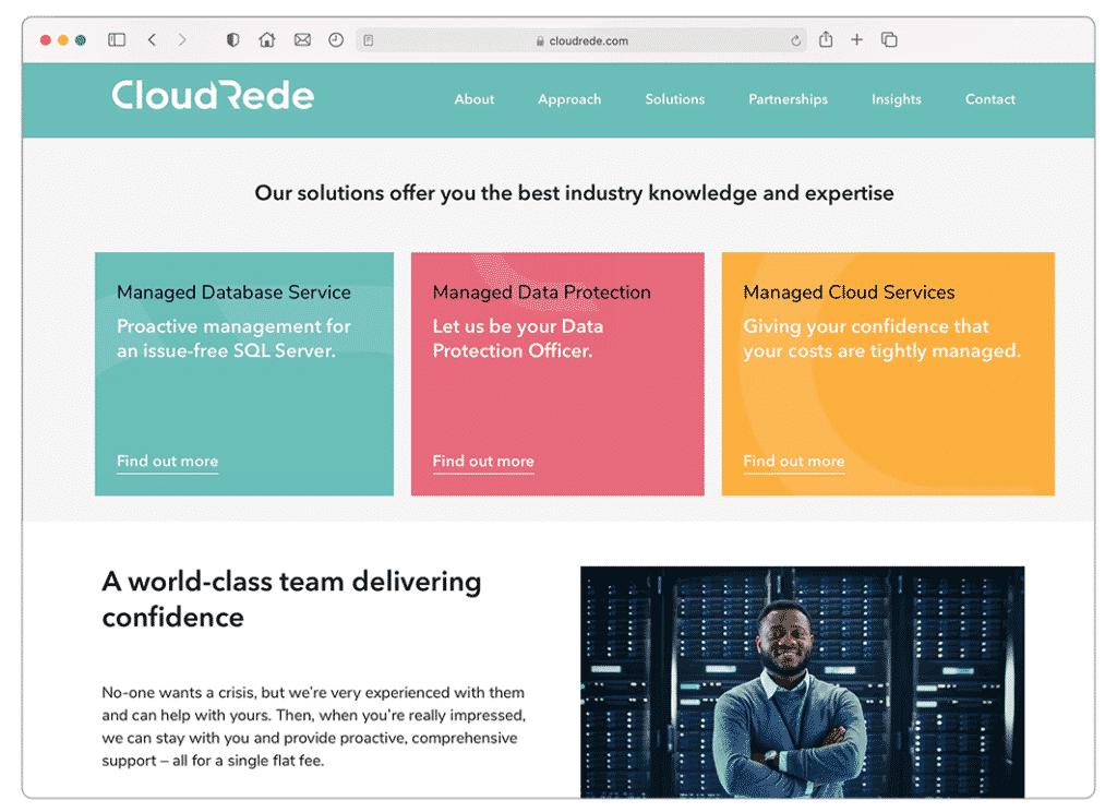 Website design project for Cloud Rede